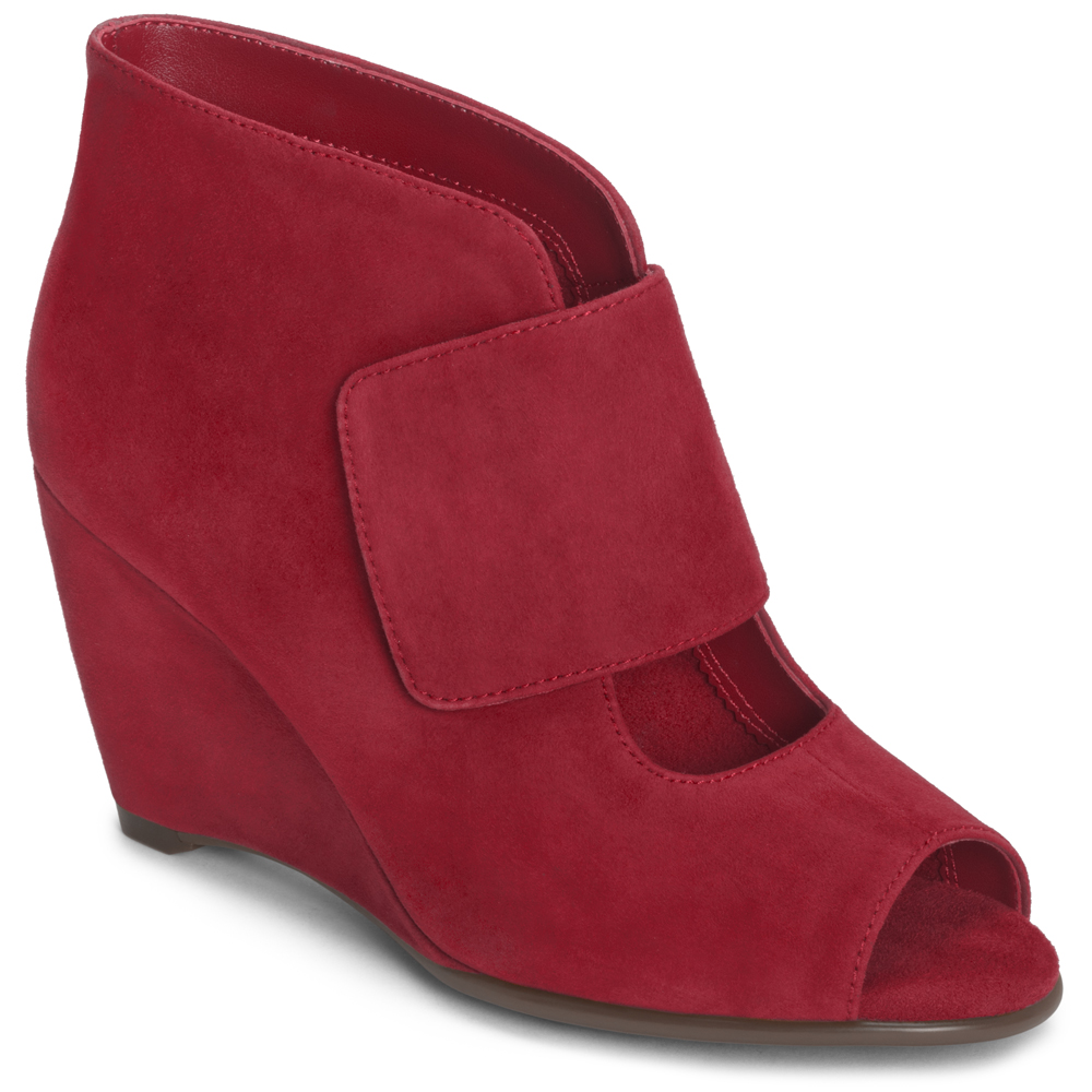 Aerosoles Sound Wave. Available in black, grey or red suede. www.Aerosoles.com. Was: $89. Now: $59-89.