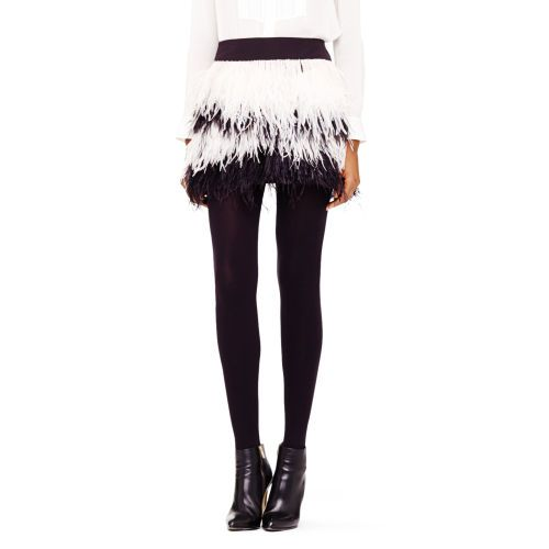 Alexus feather skirt. Club Monaco. $198.50.