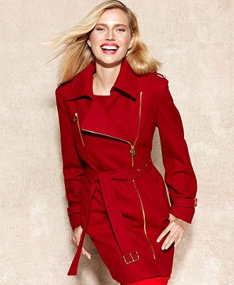 MICHAEL Michael Kors Asymmetrical Belted Wool Blend Coat. Available in multiple colors. Was: $275 Now: $179.