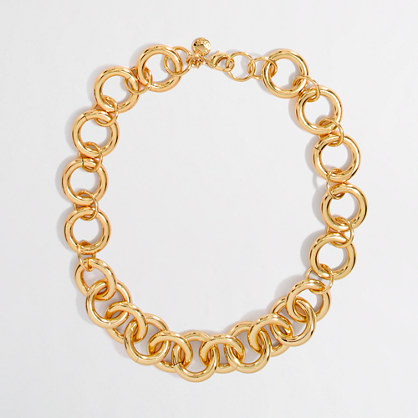 Factory gold plated chain link necklace. J Crew Outlet. Was: $59.50 Now: $27.50