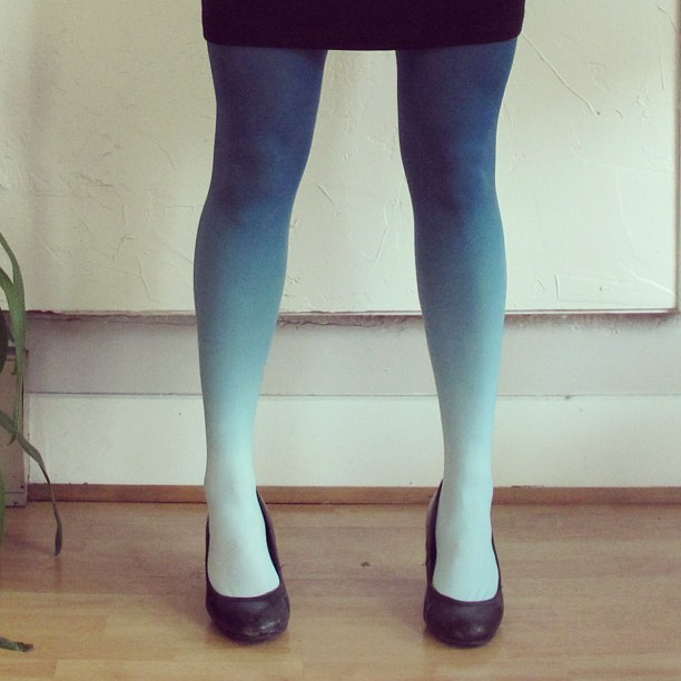 BZR Ombre tights. Available in multiple colors and sizes. Velouria. $44.