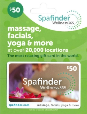 Spa Finder gift card. Works at hundreds of spas so she can choose the location and service. Amazon.com. $25- $100 each.