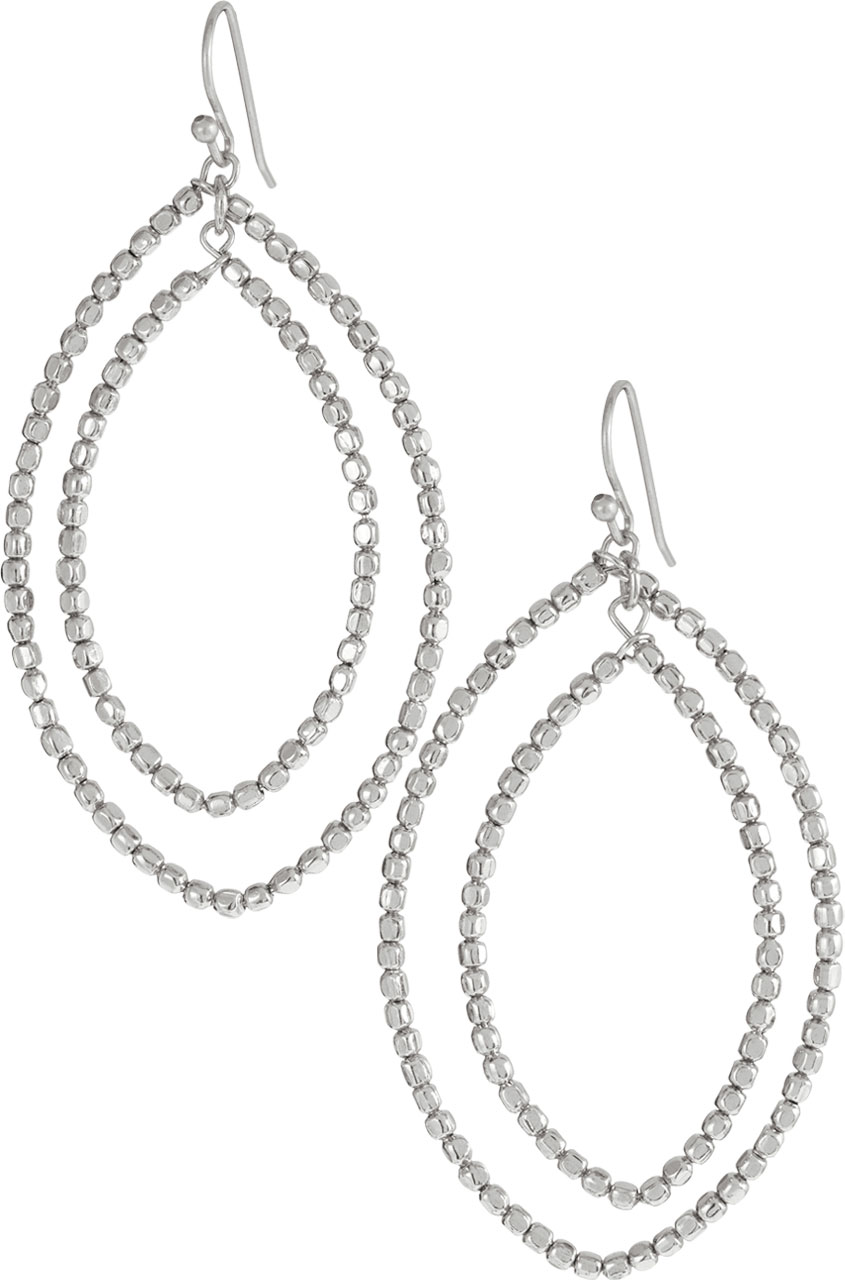 Bardot hoop earrings. Available in silver or gold. Stella & Dot. $34.