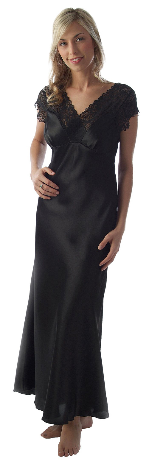 Lexie Post- Mastectomy Nightgown. Available in black and pink. Woman's Personal Health. $75.