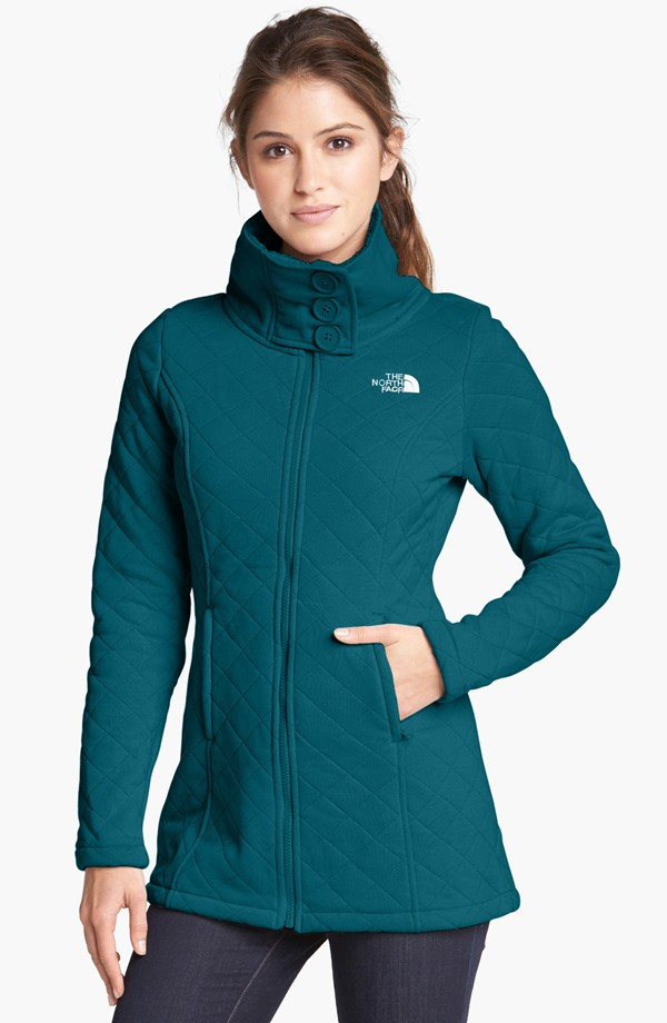 The North Face Caroluna Quilted Fleece Jacket. Available in black, white and Prussian blue. Nordstrom. $120.