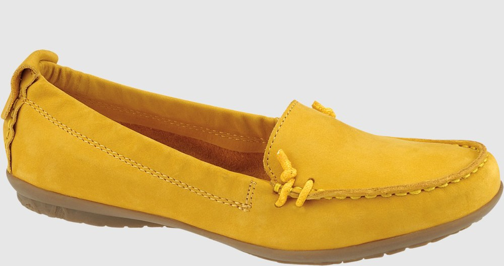 Hush Puppies Ceil slip on mocc toe shoe. Available in seemingly endless color choices. Hushpuppies.com. $79.