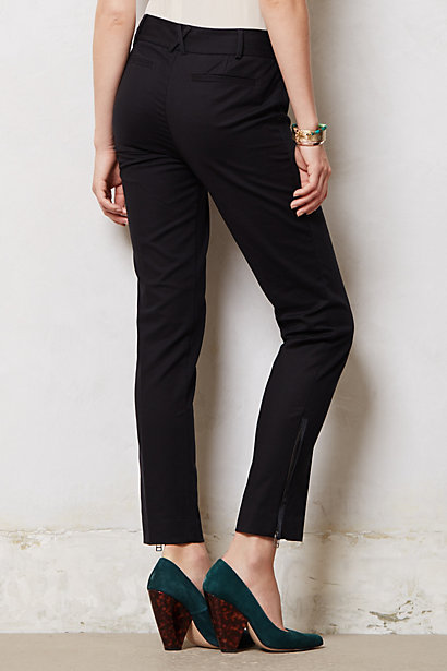 Ankle zip charlie trousers. Anthropologie. $98.