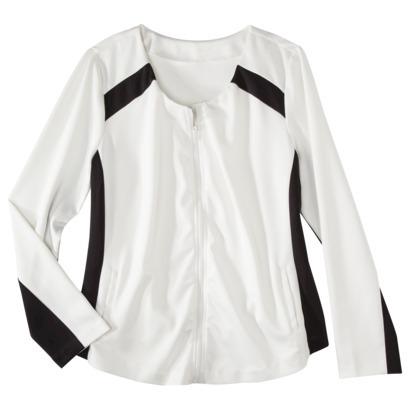 Mossimo Plus size zip front scuba jacket. Target. $39.99.
