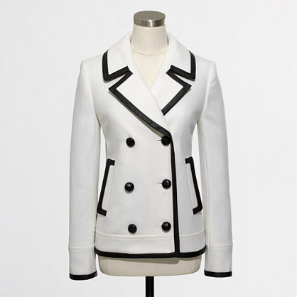 Factory tipped peacoat. JCrewOutlet. Was: $248. Now: $119.