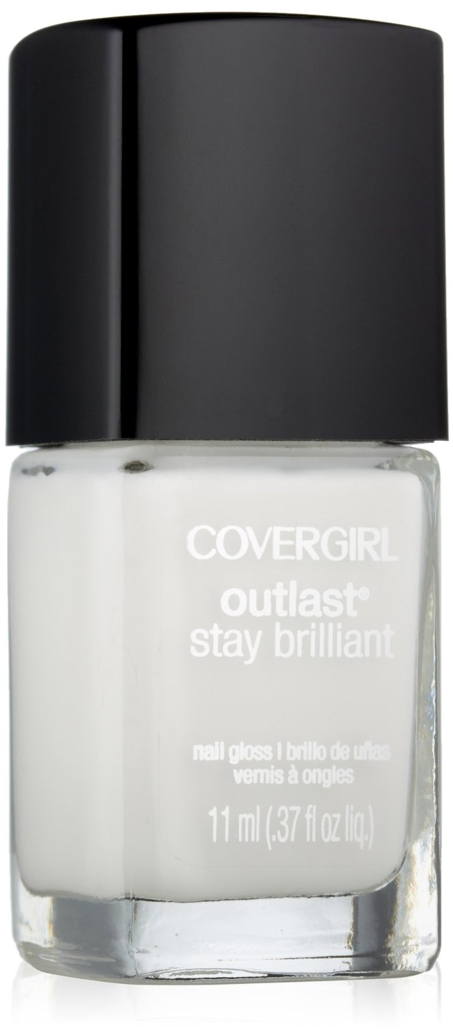 Covergirl Outlast stay brilliant nail gloss. white snow. Amazon. $3.89.