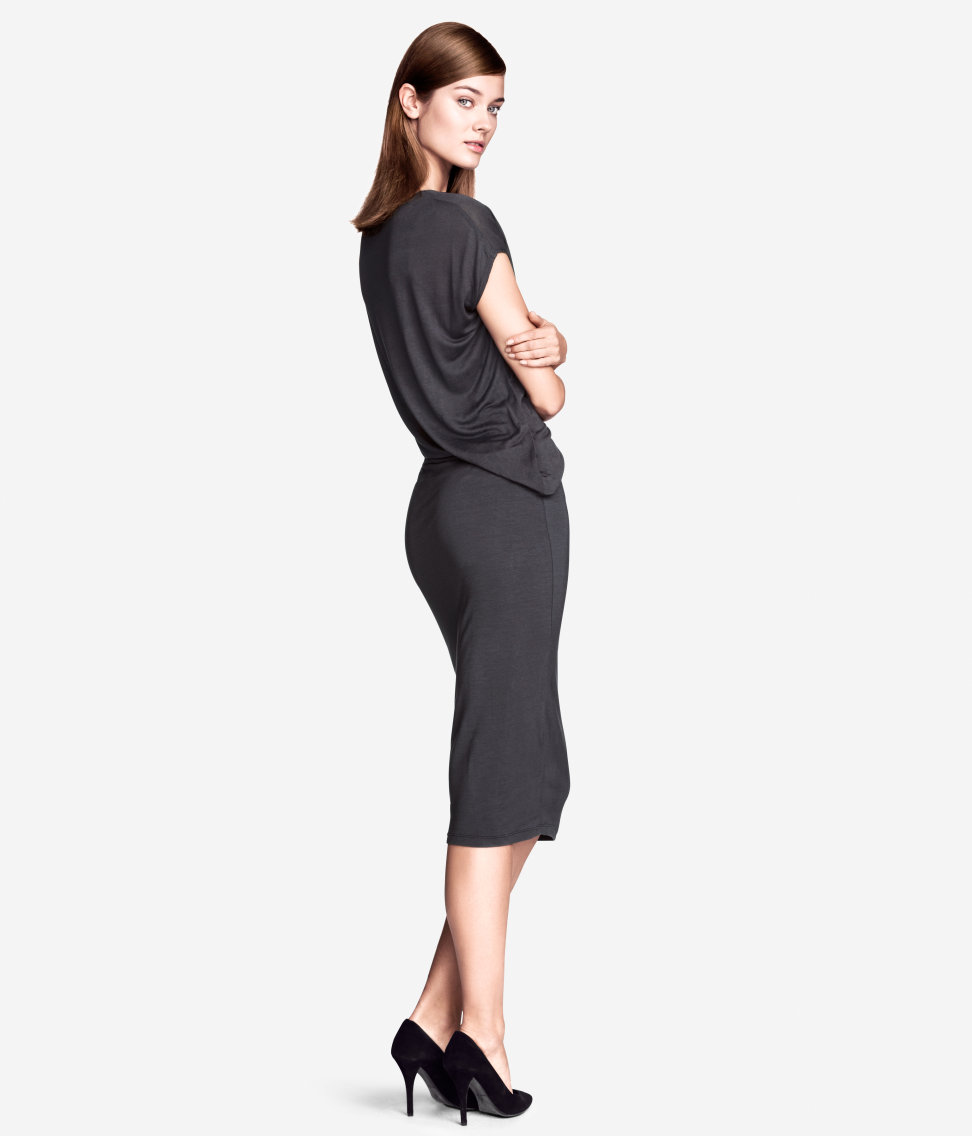 Draped Dress. Available in dark grey or light grey. H&M. $34.95.