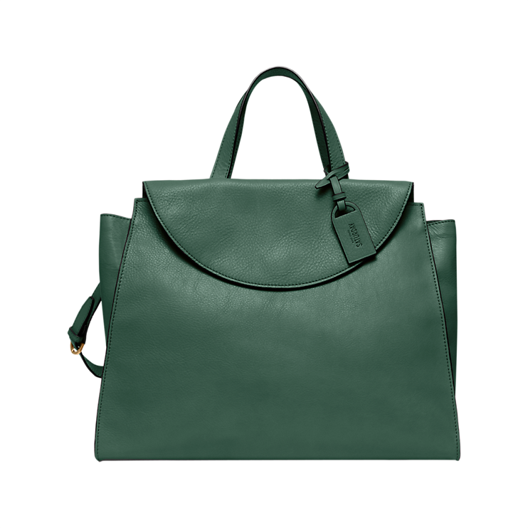 Kate Spade. The Large A satchel. Available in multiple colors. Saturday.com. $350.
