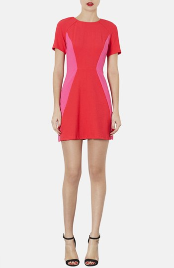 Topshop Colorblock sheath dress. Nordstrom. $96.