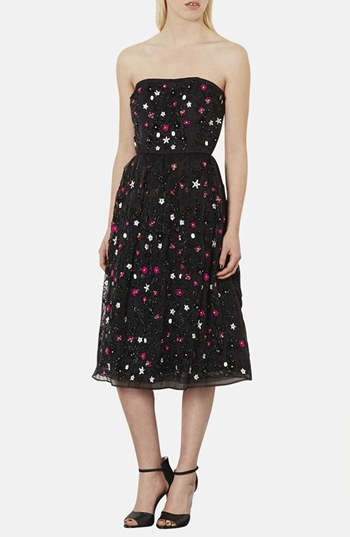 Topshop Sweetie embellished strapless midi dress. Nordstrom. Was: $360. Now: $179.99