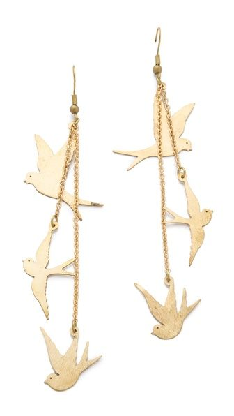 Monserat De Lucca Three dove earrings. Shopbop. $55.