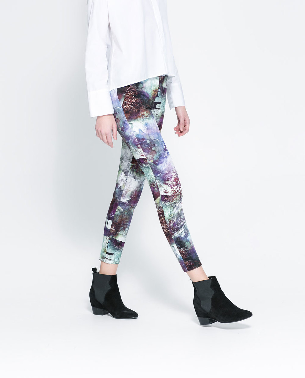 Zara printed trousers. Zara. Was: $59.90 Now: $19.99.