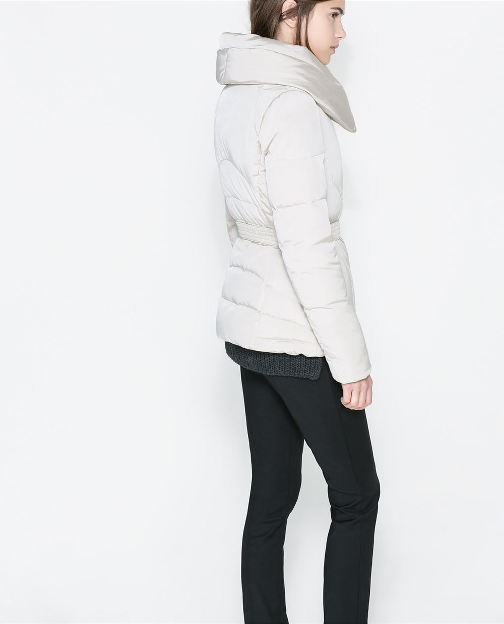 Quilted anorak with wraparound collar. Zara. Was: $179.90. Now: $99.99.