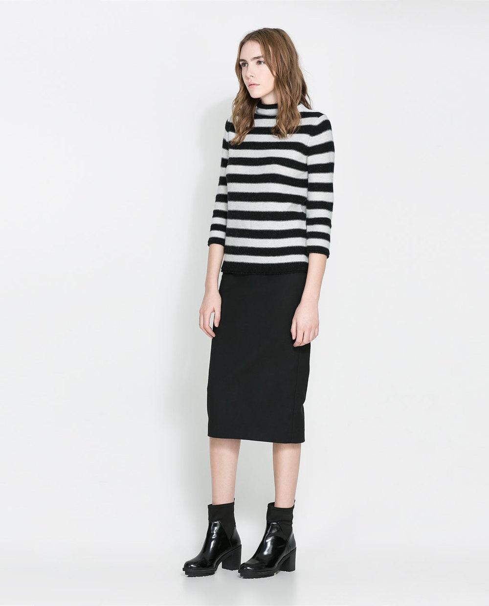 Striped angora sweater. Zara. Was: $79.90. Now: $19.99.