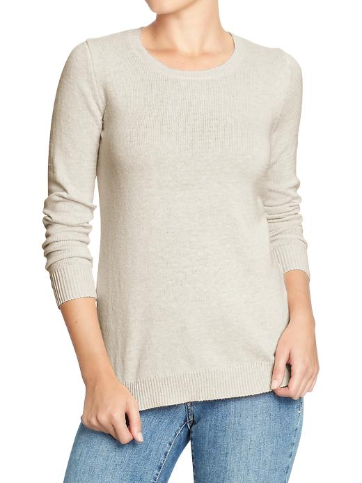 Classic Crew-neck sweater. Available in multiple colors. Old Navy. $14.97- $24.94.