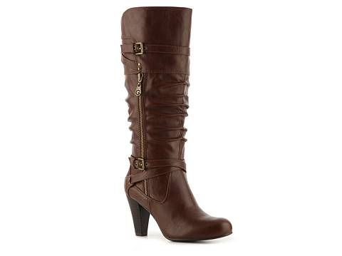 G by Guess Rozetta wide calf boot. Available in black or brown. DSW. Compare at: $90. Now: $69.95.
