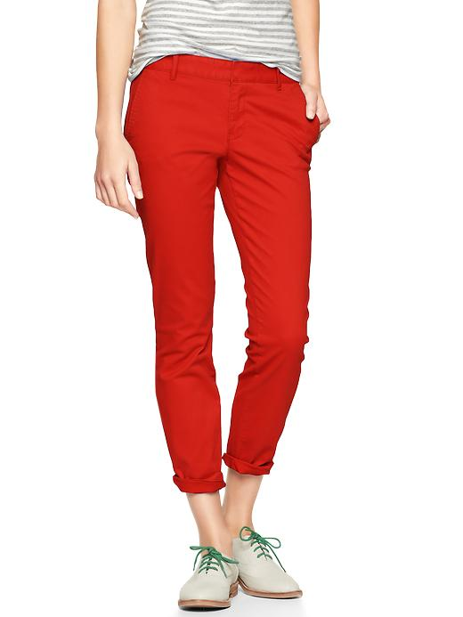 Gap skinny mini skimmer khakis. Available in multiple colors. Gap. Was: $49.95. Now: $14.99. Plus Gap has an extra 50% off sale items through 1/29. Code: MORE.