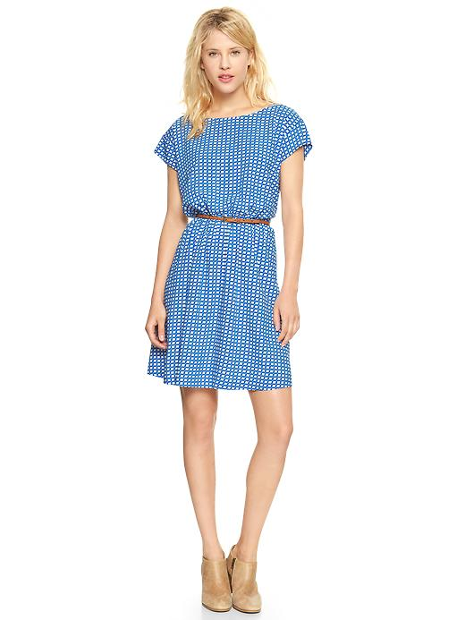 Gap Printed short sleeve dress. Was: $64.95 Now: $24.99. Plus Gap has an extra 50% off sale items through 1/29. Code: MORE.