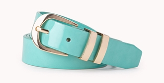 Posh faux patent belt. Available in multiple colors. $5.80.