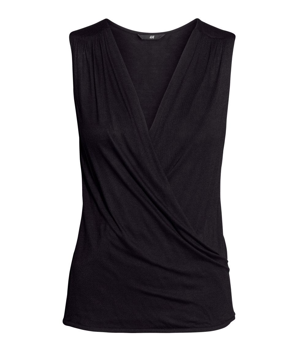 Draped top. Available in multiple colors. H&M. $12.95.
