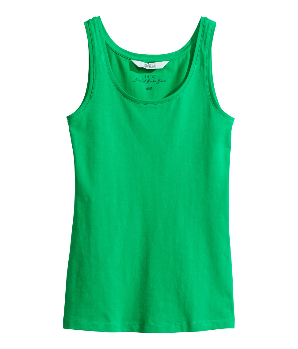 Basic jersey tank top. Available in multiple colors. H&M. $7.95.
