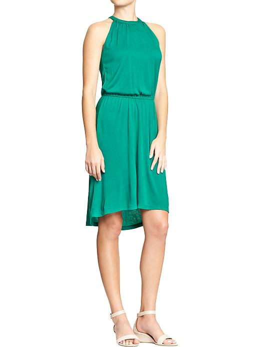 Suspended neck jersey dress. Available in multiple colors. Old Navy. $34.94. Old Navy is running an online special of 20% off through 1/29. CODE: TAKE20.