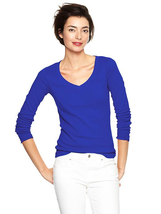 Favorite long sleeve V-neck t-shirt. Available in multiple colors. Gap. Was: $16.95 Now: $12.50. Plus take an additional 50% off sale items until 1/20. CODE: MORE.