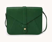 Refined envelope cross body bag. Available in green or black. Forever 21. $19.80.