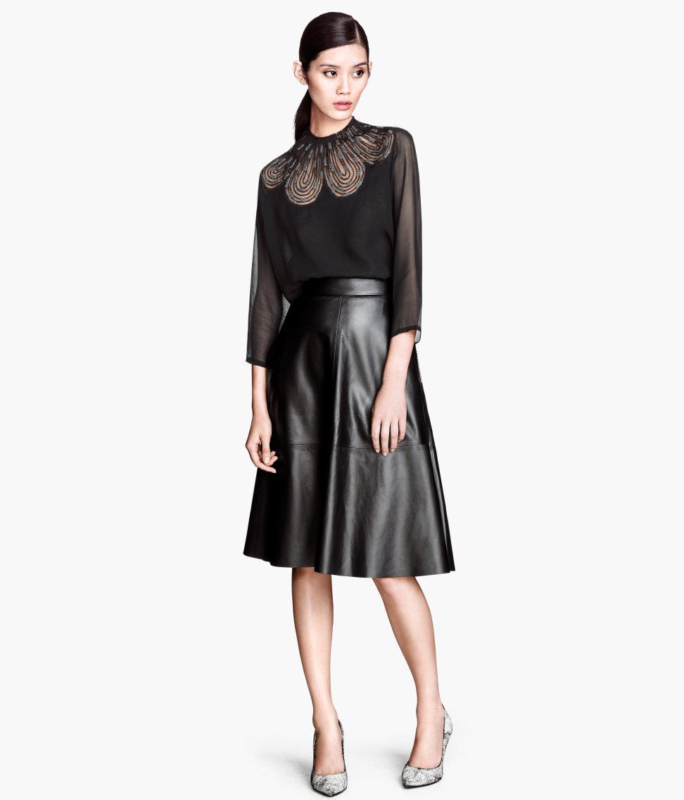 Leather midi skirt. H&M. $149.