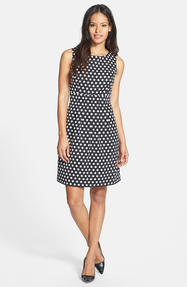 Donna Ricco polka dot woven fit & flare dress. Nordstrom. $138.