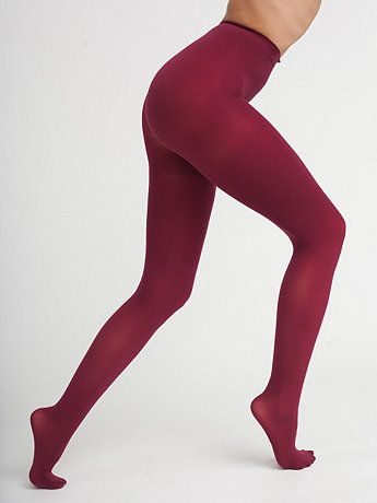 Opaque pantyhose. Seemingly endless colors available. American Apparel. $16.