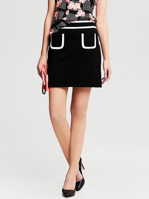 Piped pocket mini skirt. Banana Republic. $79.50.