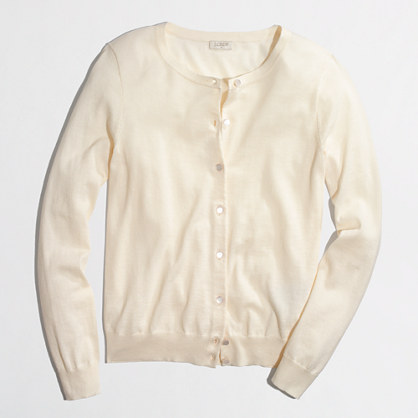 Factory lightweight merino cardigan. J Crew Factory Outlet. Was: $74.50 Now: $52.