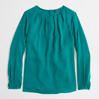 Factory pleated top. J Crew Factory Outlet. Was: $75 Now: $29.50.