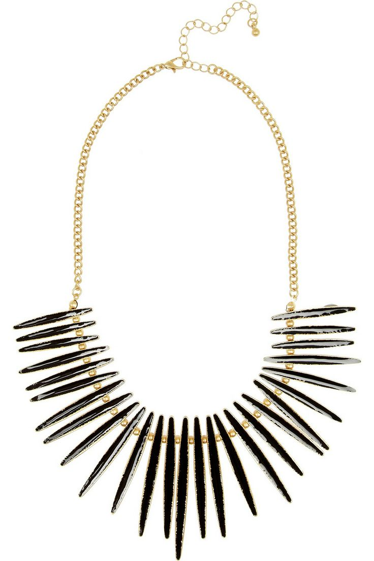 Kenneth Jay Lane Enameled Gold plated necklace. The Outnet. Was: $180 Now: $81.