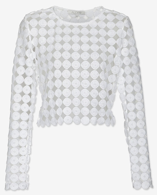Alexis dotted lace crop top. Intermix. $265.