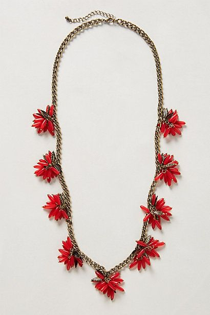 Ixora blossoms necklace. Anthropologie. $48.