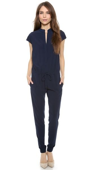 Vince Jumpsuit. Shopbop. Available in navy or black. $365.