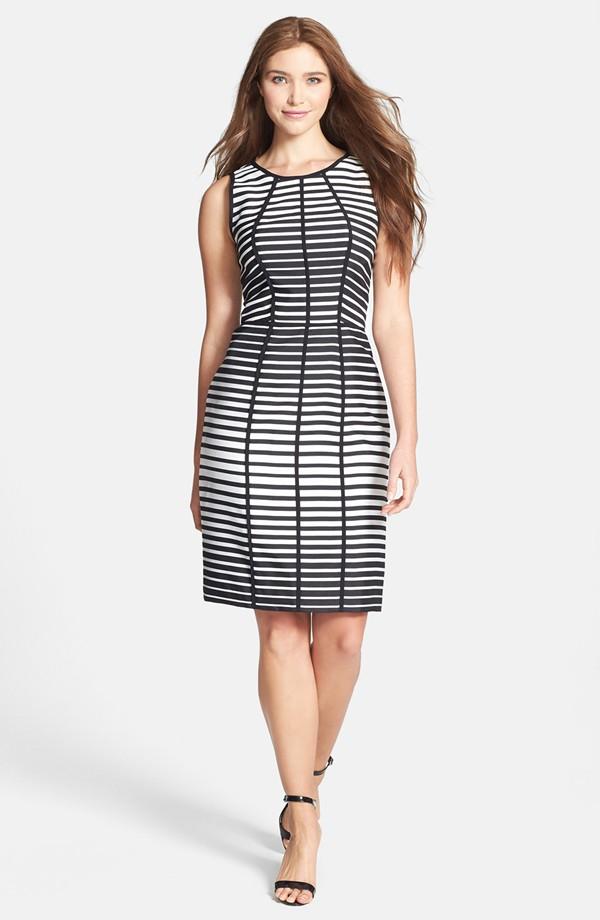 Vera Wang stripe sleeveless body con dress. Nordstrom. $190.