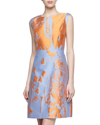 Lafayette 148 New York Printed silk sateen dress. Neiman Marcus Last Call. Compare to: $568. Was: $315 Now: $204.75.