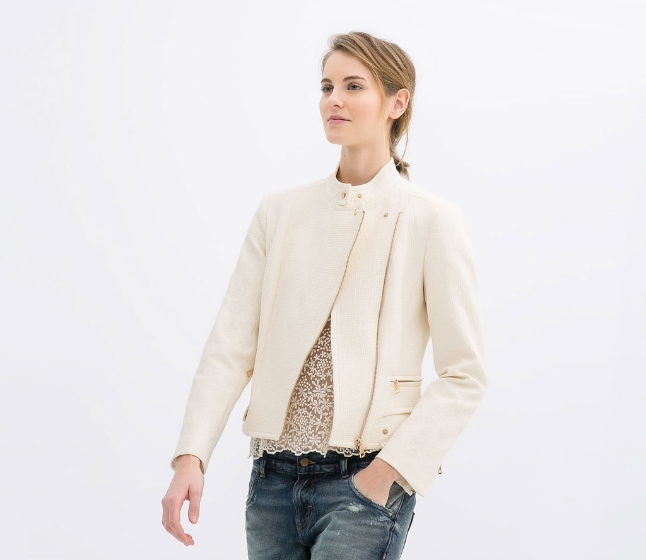 Jacket with zips. Zara. $119.