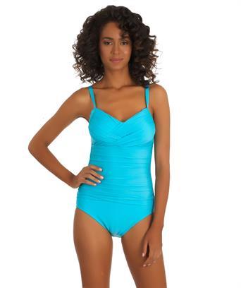 Athena designer swimwear. Heavenly slimming one piece swimsuit. Swim Spot. $95.