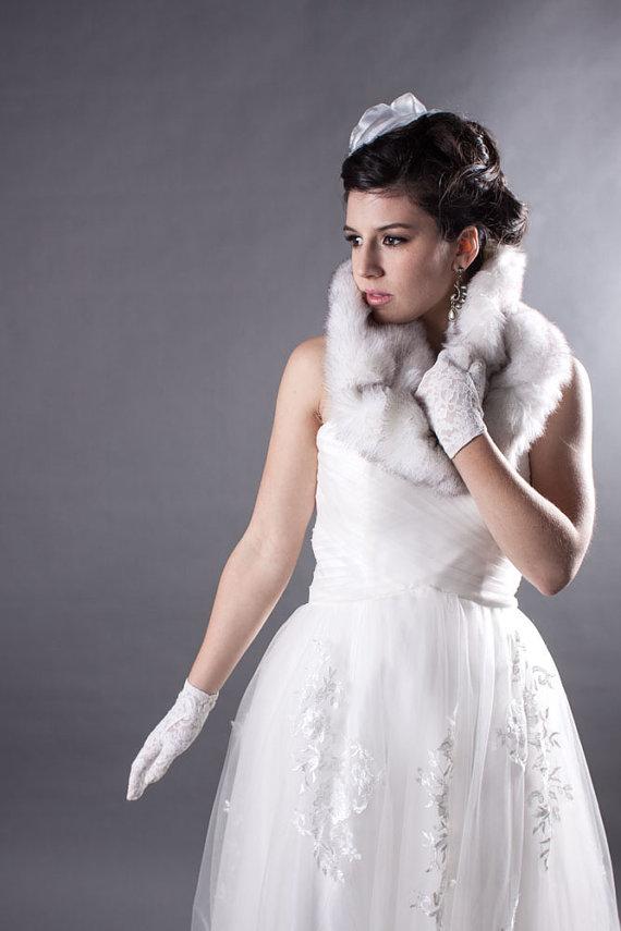 Faux fur circle scarf. Foxglove. $45.