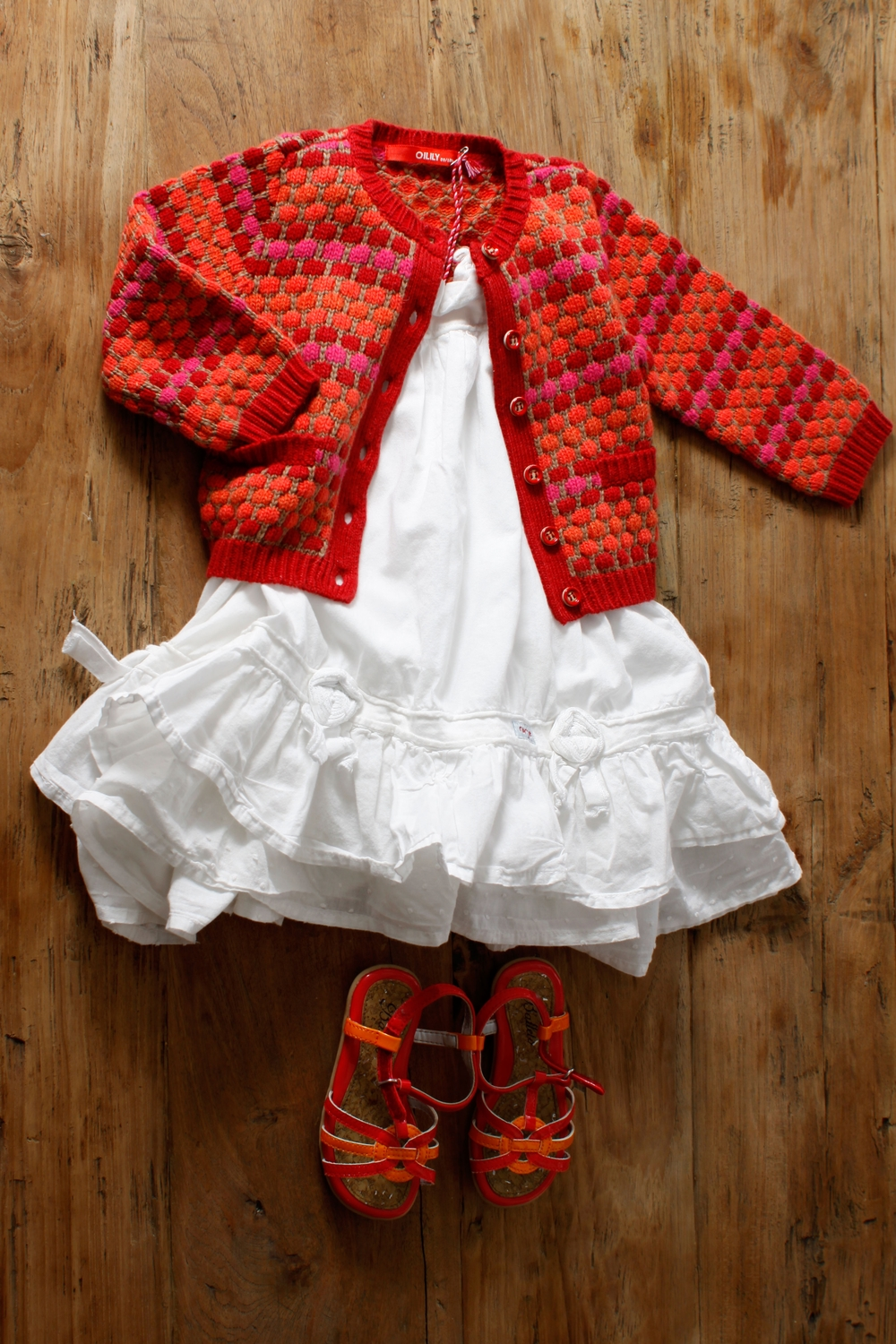 Image includes NEW Oilily Katje cardigan. Size: 80, 12-18 months. $58.