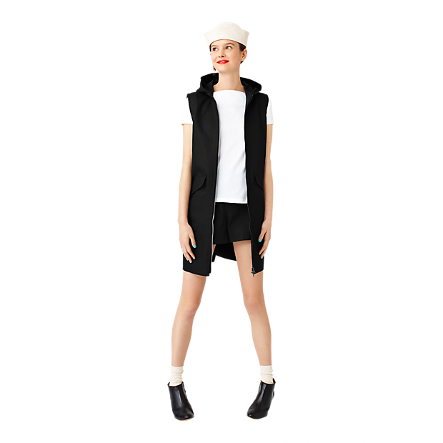 Kate Spade Hooded vest. Saturday.com. $160.