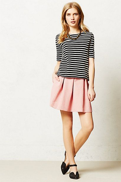 Ballad Swing skirt. Available pink, black/white. Anthropologie. $98.